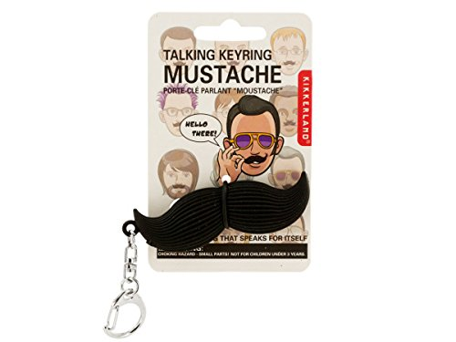 Bulk Buys Talking Mustache Keychain - Pack of 72 ()