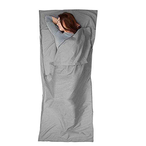 MOLECOLE Sleeping Bag Liner - Travel and Camping Sheet Lightweight Compact Envelope Sleep Bag Ultra Lightweight 86