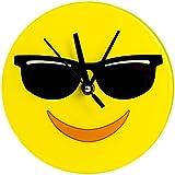 Cool Emoji 7 IN Glass Clock