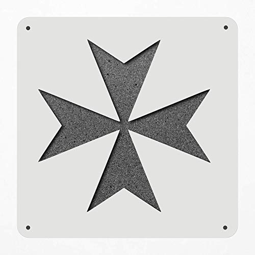 Stencil Large 12 Inch Maltese Cross Religion Chopper Plastic Mylar Stencil Painting, Walls, Crafts, Signs, Item 1386246