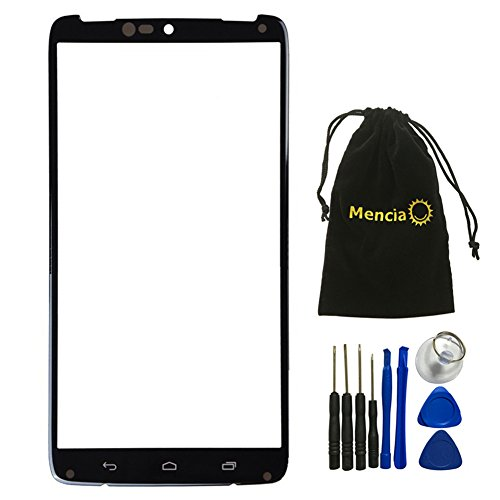 Mencia Cell Phone Replacement Top Front Outer Glass Screen Compatible for Motorola Droid Turbo Xt1254 with Tool(No LCD)