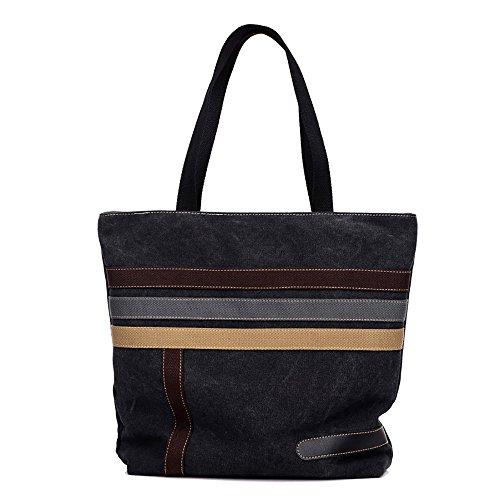 mfeo-womens-stitching-canvas-shoulder-bag-weekend-casual-big-shopping-bag-black