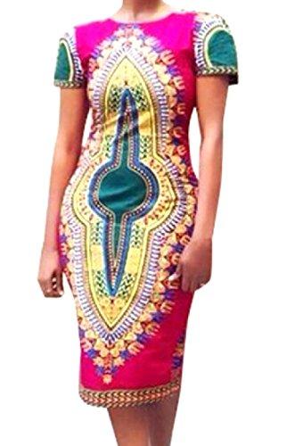 Comodi Corta Africano Ginocchio Immagine Manica Lunghezza Donne Delle Vestito Come Stile Al Sottile dqvIEIw