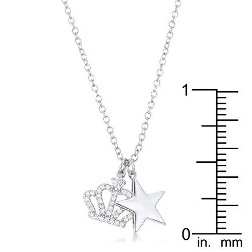 Kate Bissett Vanessa Crown /& Star Charm 0.4 ct Pendant