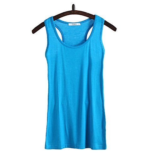 Wenseny Mujer BXH Casual Cuello Redondo Camiseta Sin Mangas Tank Top Dark Azul