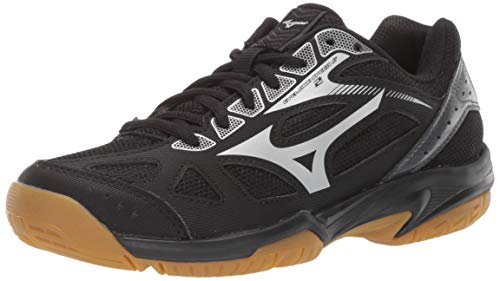 Mizuno Unisex Cyclone Speed 2 Junior Indoor Court Shoe, blacksilver, 3 Child US Big Kid