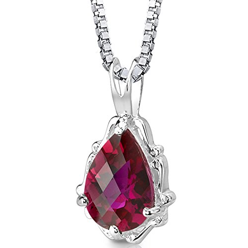 Created-Ruby-Pendant-Necklace-Sterling-Silver-Rhodium-Nickel-Finish-Pear-Shape