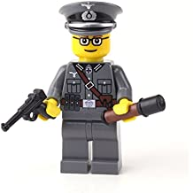 Wehrmacht Officer German WW2 (SKU62)- Battle Brick Custom Minifigure