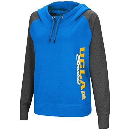 Colosseum Women's NCAA-TNT Funnel Neck Hoodie Pullover Sweatshirt-UCLA Bruins-Blue-Small (Ucla Drawstring Bruins Ncaa)