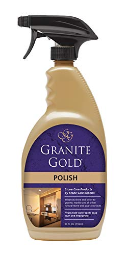 Granite Gold Polish Spray - Maintain Shine And Luster Of Natural Stone Surfaces - 24 Ounces (Best Granite Polish And Sealer)