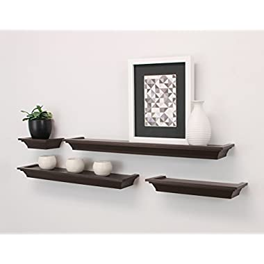 nexxt Classic Multi Length Shelves, Espresso, Set of 4