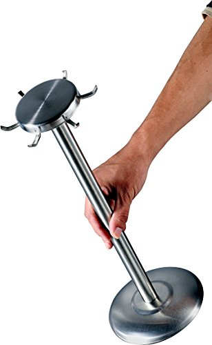 Pro Chef Kitchen Tools Stainless Steel Utensil Holder - Rotating Carousel Spinning Metal Tool Stand Organizer Neatly Holds and Spins a Set of 6 Cooking Utensils