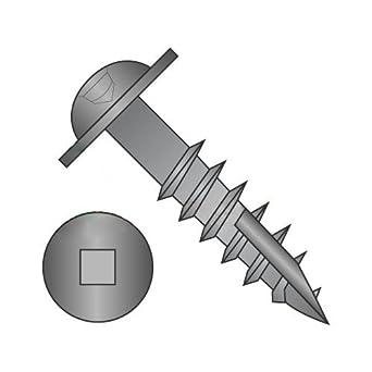 #8 x 2 1//4 Deep Thread Wood Screws//Square//Round Washer Head//Steel//Black Oxide//Type 17 Pt//Type 17 Point Carton: 1,000 pcs