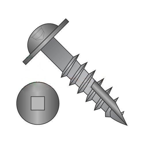 #8 x 2 Deep Thread Wood Screws//Square//Round Washer Head//Steel//Black Oxide//Type 17 Pt//Type 17 Point Carton: 1,800 pcs