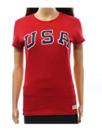Polo Ralph Lauren Womens Graphic Short Sleeves T-Shirt Red L