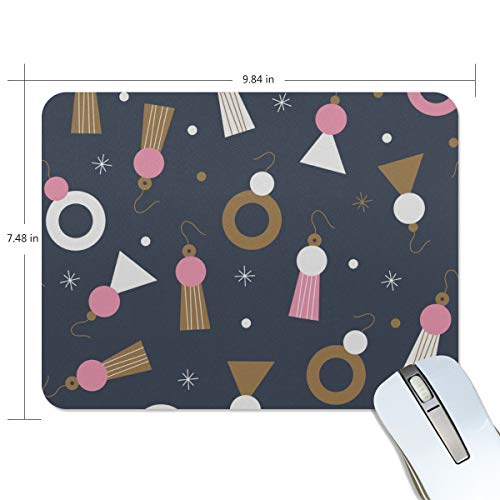 Fashion Retro Unique Custom Mousepad Earrings Jewelry Fashion Items Match Printing Non-Slip Rectangle Natural Rubber Fabric Mouse Mat Gaming Mouse Pad