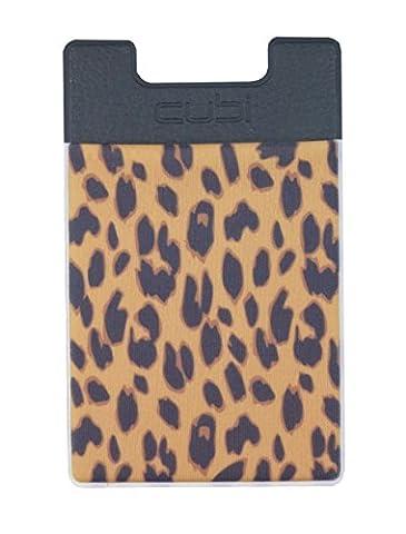 CardNinja Ultra-slim Self Adhesive Credit Card Wallet for Smartphones, Gold Cheetah (Iphone 5 Cases Cheetah)