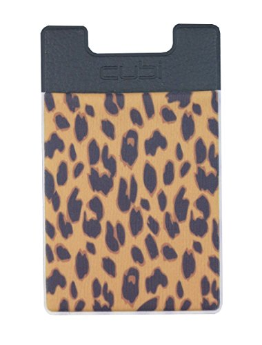 CardNinja Ultra-slim Self Adhesive Credit Card Wallet for Smartphones, Gold Cheetah