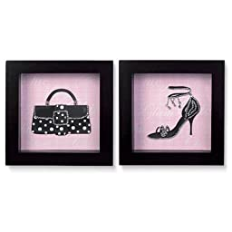 Grasslands Road Shadow Box Purse and Shoe Picture Frame Set