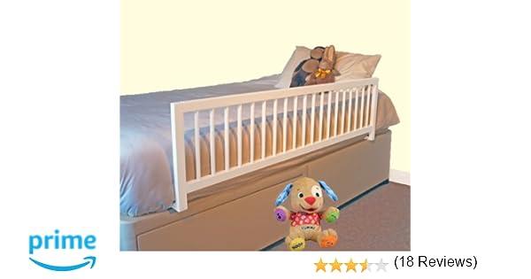 Safetots - Barandilla protectora para cama, de madera, extraancha, color blanco: Amazon.es: Bebé