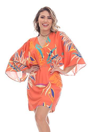 Vestido Clara Arruda Curto Manga Quadrada 50443 - M - Fusão De Corais