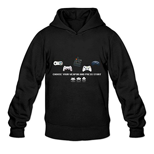 Price comparison product image Yhdjk Men's Choose your weapon and press start Hoodie Black XXL