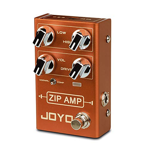 JOYO R-04 ZIP AMP Overdrive Pedal for Rocker, Guitar Effect Pedal, Strong Compression Overdrive Tone, True Bypass