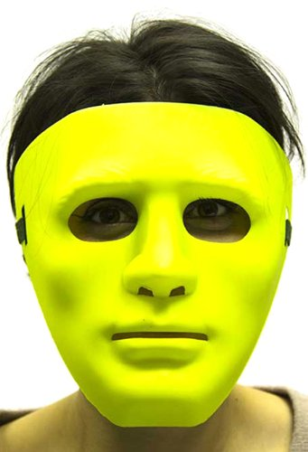 [HMS Men's Gonzo Mask Blacklight, Fluorescent Lime, One Size] (Gonzo Adult Costumes)