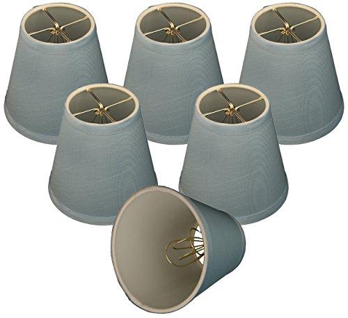 Royal Designs CS-1006-5BLU-6 Clip On Empire Chandelier Lamp