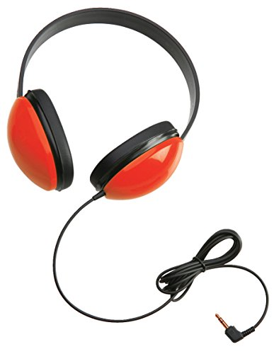 Califone 2800-RD Listening First Stereo Headphones, Red, Adjustable headband comfortable for extended wear, Specifically sized for young students, Ideal for beginning computer classes and story-time u