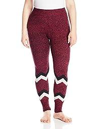 Hottotties Women\'s Plus Size Sweater Legging, Mix Berry, 2X