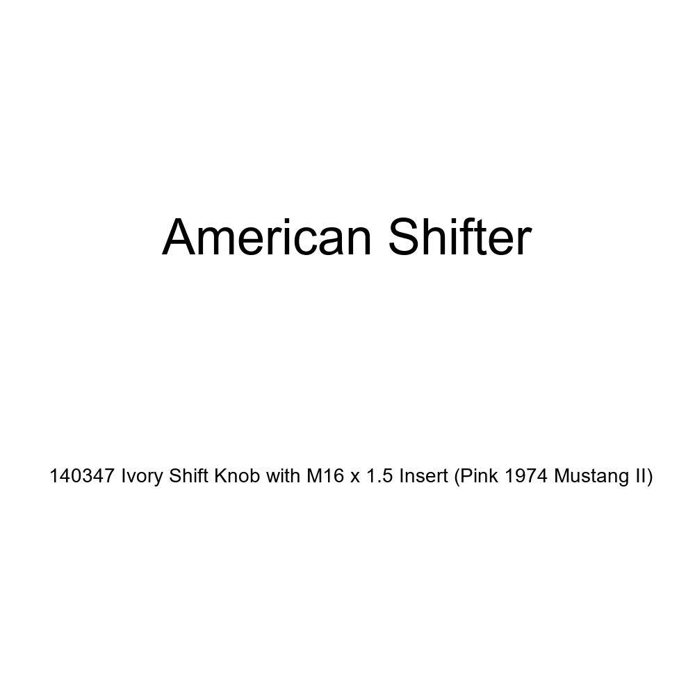 American Shifter 77950 Black Metal Flake Shift Knob with M16 x 1.5 Insert White Shift Pattern 51n