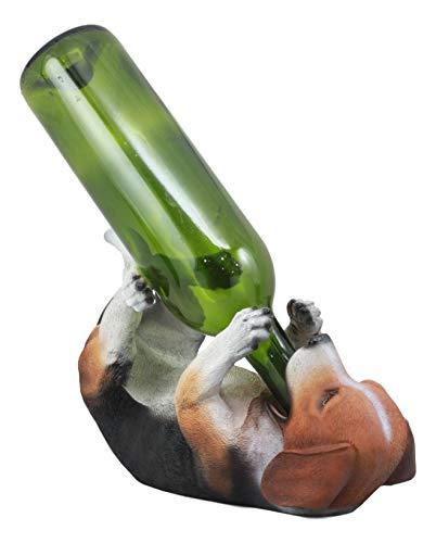 Ebros Adorable Realistic Tricolor Beagle Wine Holder Figurine 10