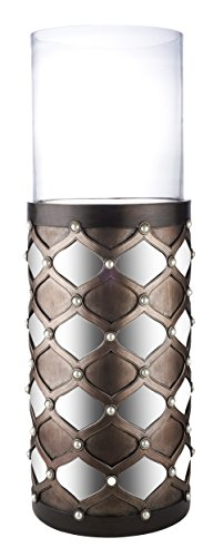 Ore International Arabesque 31'' H Mirror Floor Candleholder by ORE