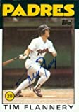 Autograph Warehouse 71932 Tim Flannery Autographed Baseball Card San Diego Padres 1986 Topps No . 413