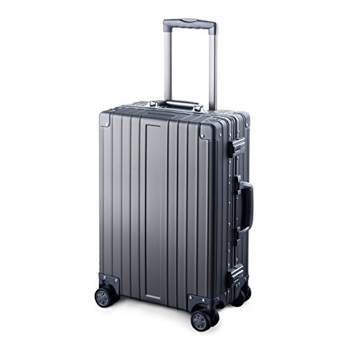 TRAVELKING Multi-size All Aluminum Hard Shell Luggage Case Carry On Spinner Suitcase (20