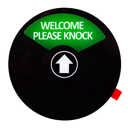 Kichwit Privacy Sign, Do Not Disturb Sign, Out of Office Sign, Welcome Please Knock Sign, Office Sign, Conference Sign for Offices, 5 Inch, Black by Kichwit (Image #2)