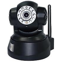 IPM Apex 720P Wireless Network IP Camera, Pan/Tilt, Wi-Fi Enabled, 30fps, H.264, MJPEG, Black
