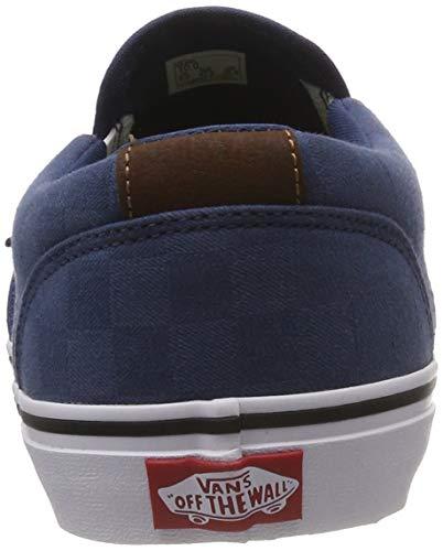 check Vans Baskets white U0d Bleu Dark Denim Asher Jacquard Deluxe Homme Enfiler wgwYqS7