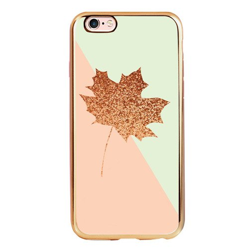 - Yellow Maple Leaf iPhone 6 6s Plus Case, Customized TPU Electroplated Rose Gold iPhone 6 6s Plus 5.5 Inch Case