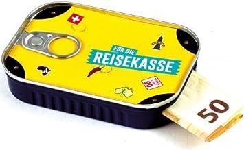 Bote de sardina para regalos de dinero, incluye pegatinas para mensajes individuales, ideal para bodas, confirmaciones, mudanzas o como carné de dinero