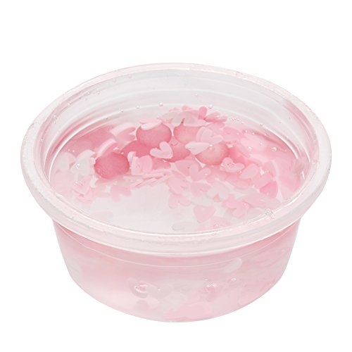Solvang Cute DIY Jelly Slime Stress Relief Toy Scented Sludge Toy for Kids and Adults (pink)