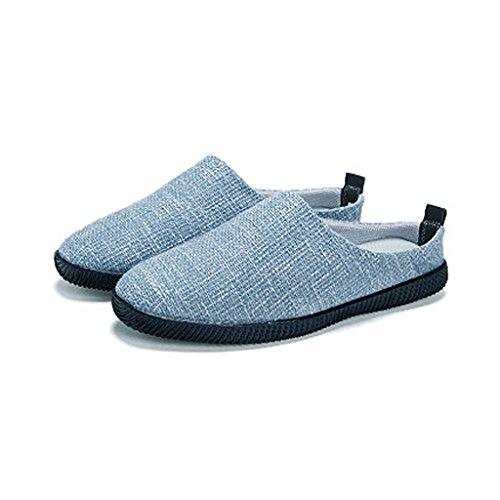 lino 5 Blu SHOP Scarpe estivo pigre di shoes da Baotou di Cachi dimensioni Scarpe Pantofole LI Colore canvas XIANG CN45 UK9 EU43 Pantofole uomo SHI casual all'esterno tela qTEwnz4p