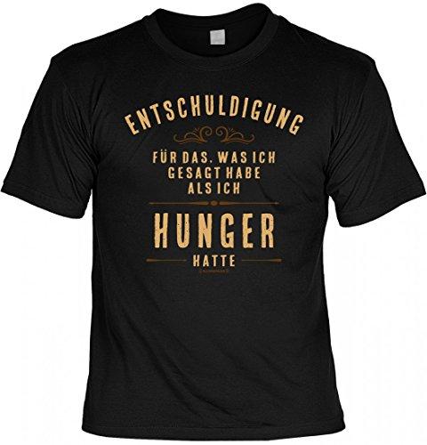 T-Shirt Spruchshirt als Geschenk - Hunger - witziges bedrucktes Motivshirt für den Diätsünder und Hungrigen zickig Humor