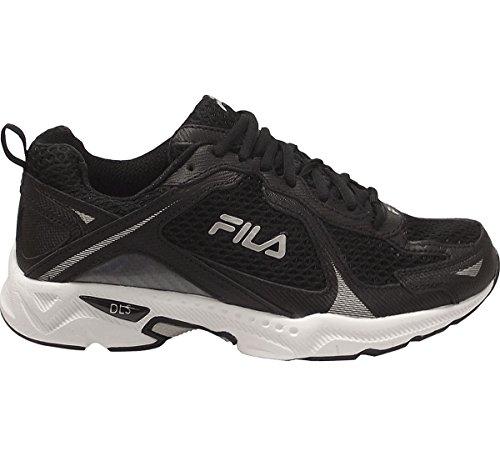 Fila Women's Trexa Lite 2 Running Shoe,Black/Black/Metallic Silver,11 M US