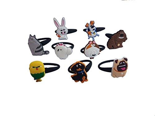 AVIRGO 9 pcs Releasable Ponytail Holder Elastic Rubber Stretchable No-slip Hair Tie Set # (C Viper Costumes)