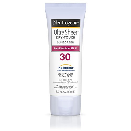 Neutrogena Ultra Sheer Dry-Touch Water Resistant and Non-Greasy Sunscreen Lotion with Broad Spectrum SPF 30, 3 fl. oz