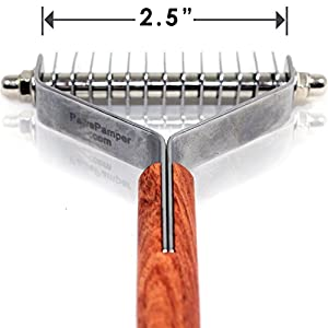PawsPamper Extra Wide Undercoat Rake for Medium to Large Dogs, Cats 2