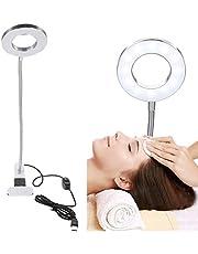 Make up LED-lampa med fäste, salongbordslampa kallt och varmt ljus, bärbar permanent make-up skönhetsbordslampa för mikrobladdande ögonbryn / eyeliner