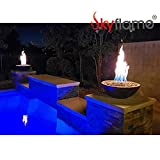 Skyflame 18 Inch Round Stainless Steel Fire Pit Jet